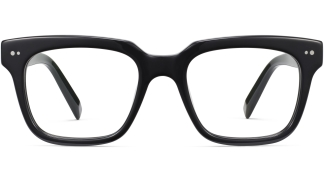 Front View Image of Winston Eyeglasses Collection, by Warby Parker Brand, in Jet Black Color