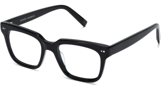 Angle View Image of Winston Eyeglasses Collection, by Warby Parker Brand, in Jet Black Color