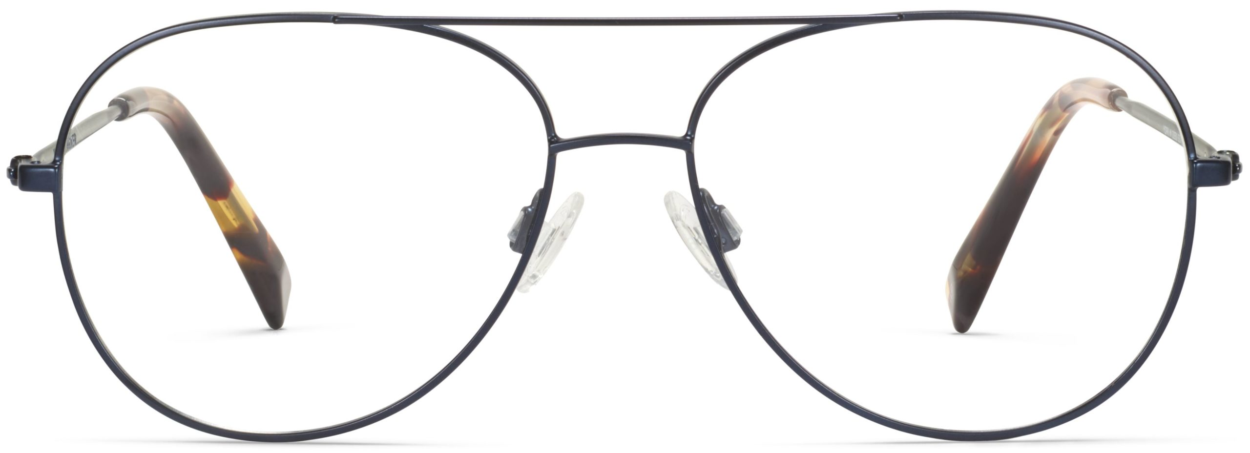 Front View Image of York Eyeglasses Collection, by Warby Parker Brand, in Brushed Navy Color