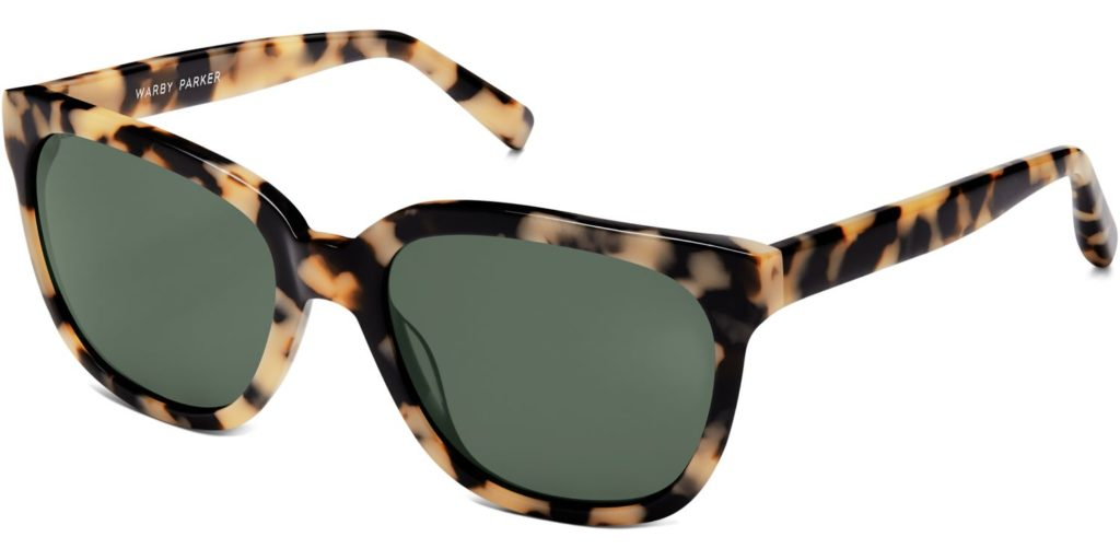 Reilly in Marzipan Tortoise with Green-Grey lenses