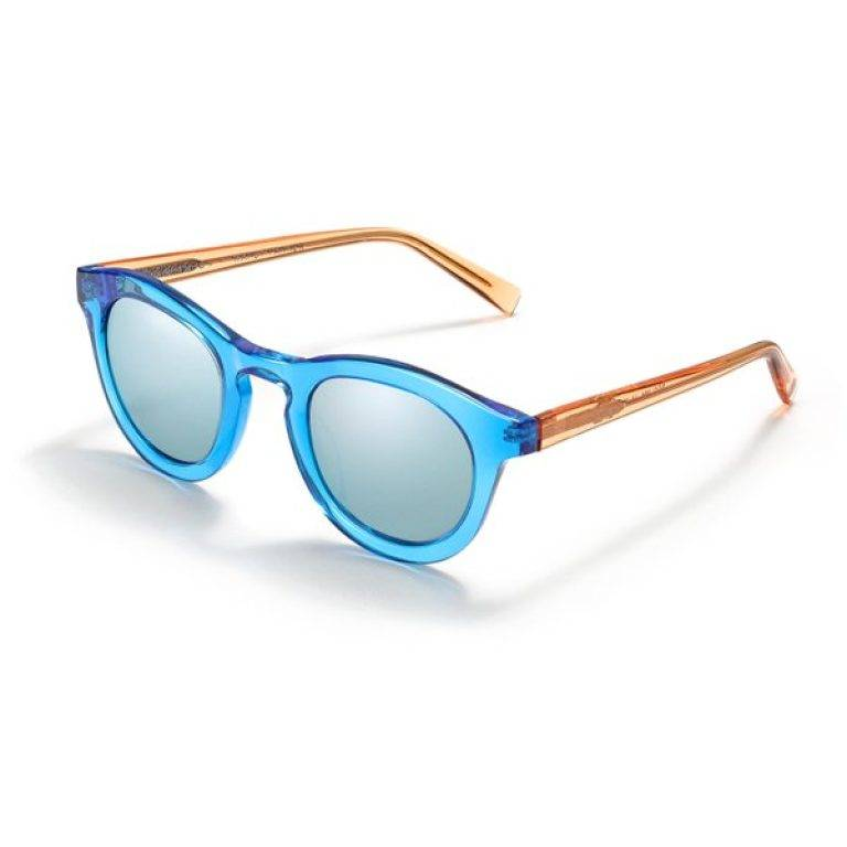 Rauschenberg in Cerulean Crystal with Flash Mirrored Sky Blue lenses