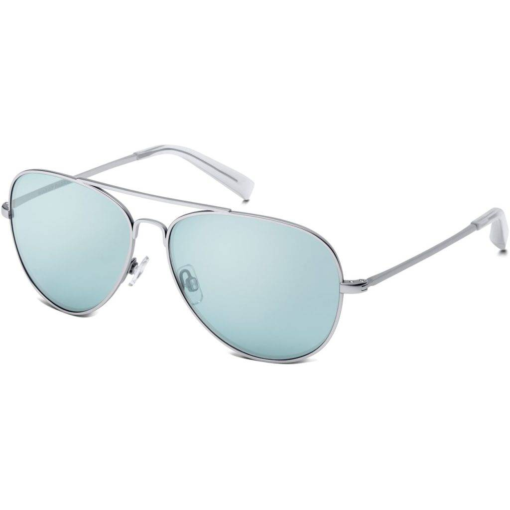 Dempsey Sunglasses in Jet Silver with Blue Mirror lenses