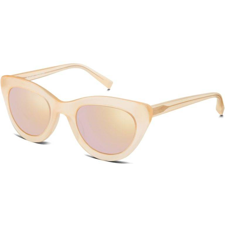 Dorothy Sunglasses in Melon with Flash Mirror Rose Gold lenses