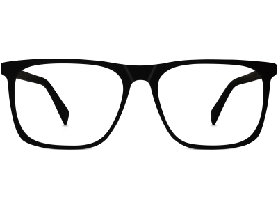 Front View Image of Fletcher Eyeglasses Collection, by Warby Parker Brand, in Black Matte Eclipse Color