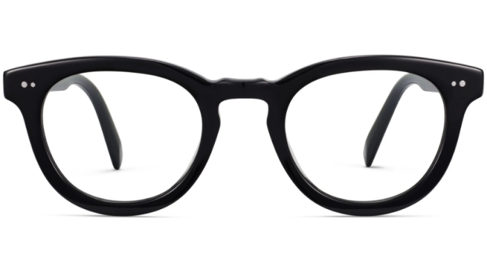 Front View Image of Ainsley Eyeglasses Collection, by Warby Parker Brand, in Jet Black Color