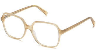 Angle View Image of Alston Eyeglasses Collection, by Warby Parker Brand, in Champagne Color