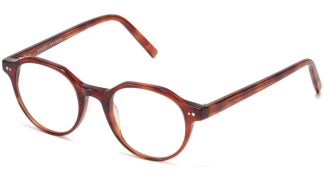 Angle View Image of Begley Eyeglasses Collection, by Warby Parker Brand, in Amber Tortoise Color