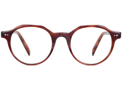Front View Image of Begley Eyeglasses Collection, by Warby Parker Brand, in Amber Tortoise Color