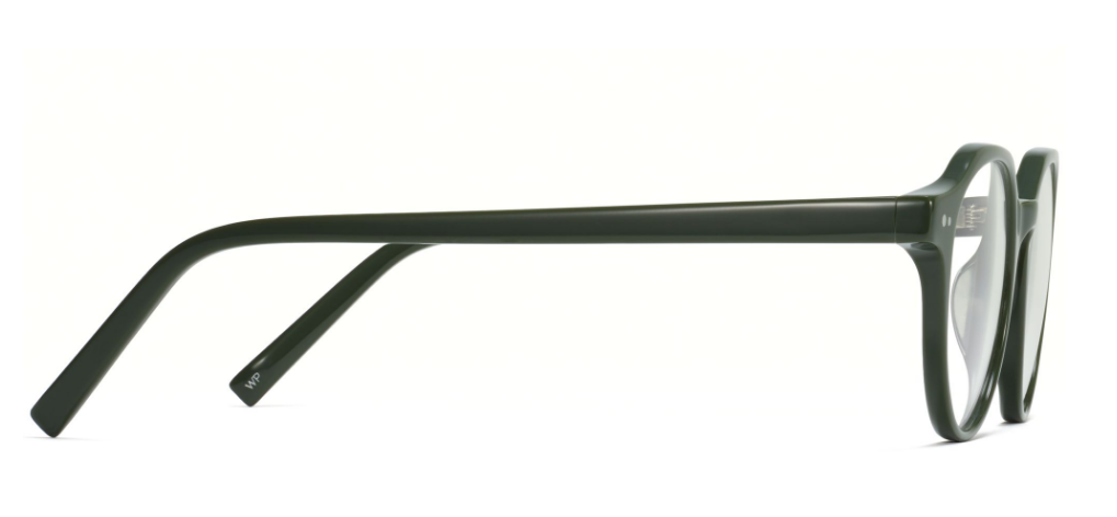Side View Image of Begley Eyeglasses Collection, by Warby Parker Brand, in Magnolia Green Color
