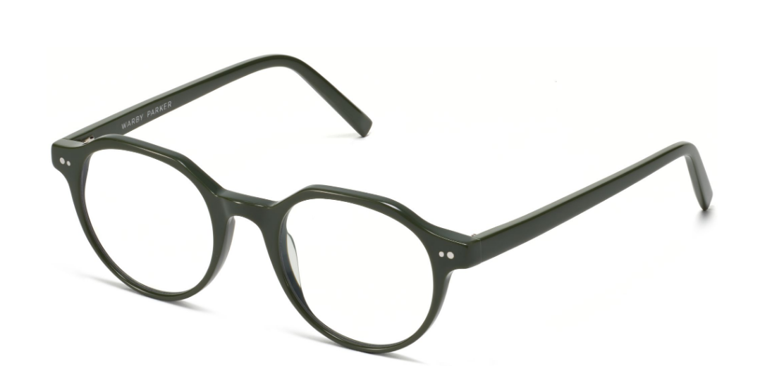 Angle View Image of Begley Eyeglasses Collection, by Warby Parker Brand, in Magnolia Green Color
