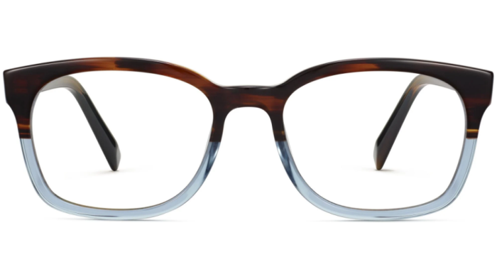 Front View Image of Berman Eyeglasses Collection, by Warby Parker Brand, in Eastern Bluebird Fade Color