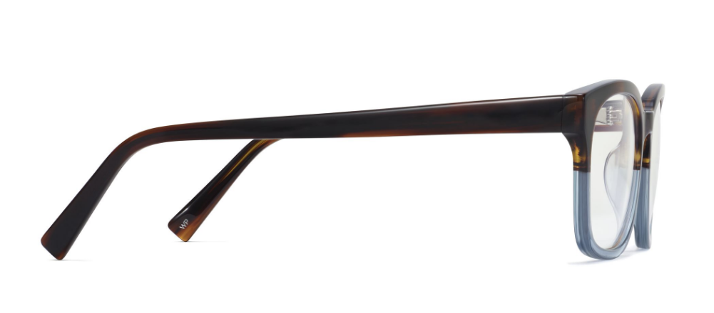 Side View Image of Berman Eyeglasses Collection, by Warby Parker Brand, in Eastern Bluebird Fade Color