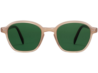 Front View Image of Britten Sunglasses Collection, by Warby Parker Brand, in Dune Crystal with Cacao Crystal Color