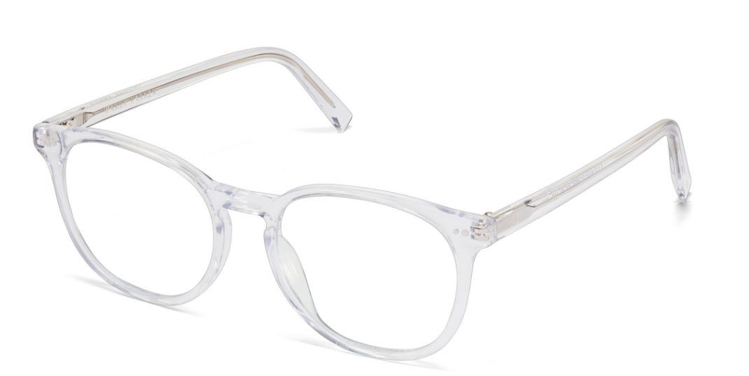 Angle View Image of Carlton Eyeglasses Collection, by Warby Parker Brand, in Crystal Color