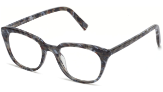 Angle View Image of Chelsea Eyeglasses Collection, by Warby Parker Brand, in Striped Marble Color