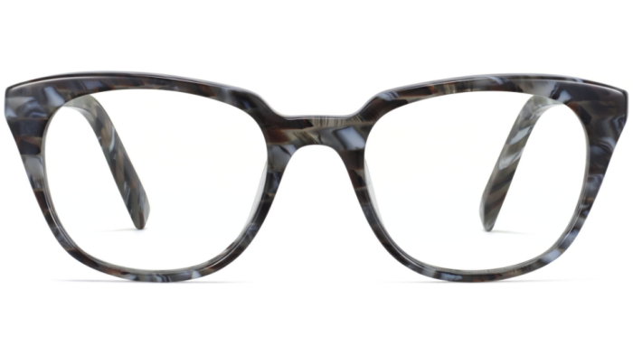 Front View Image of Chelsea Eyeglasses Collection, by Warby Parker Brand, in Striped Marble Color