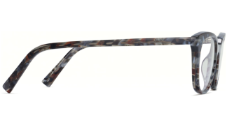 Side View Image of Chelsea Eyeglasses Collection, by Warby Parker Brand, in Striped Marble Color