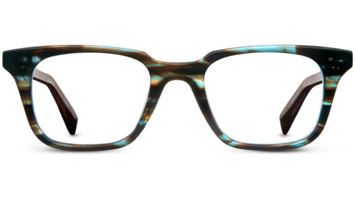Front View Image of Clark Eyeglasses Collection, by Warby Parker Brand, in Blue Marblewood Color