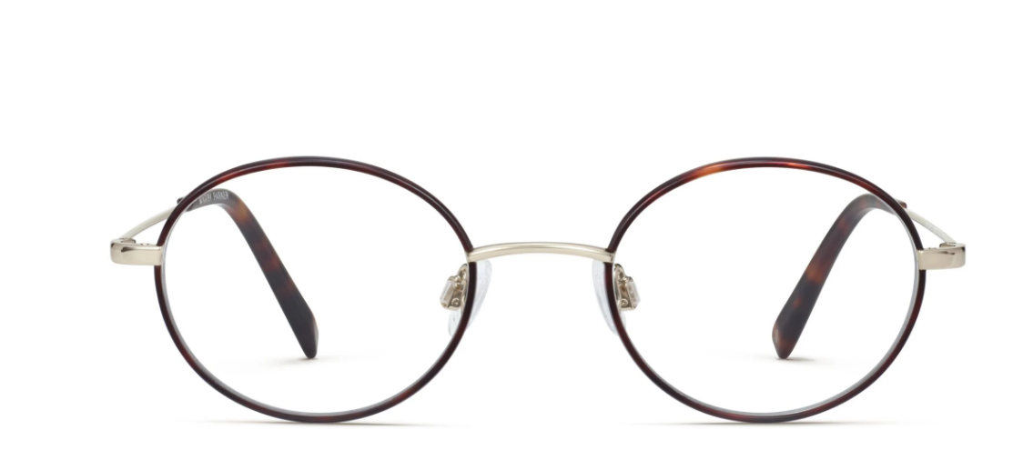 Front View Image of Collins Eyeglasses Collection, by Warby Parker Brand, in Red Canyon Matte with Polished Gold Color