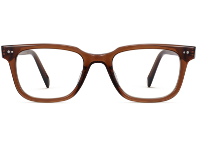 Front View Image of Conley Eyeglasses Collection, by Warby Parker Brand, in Cacao Crystal Color