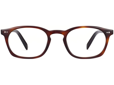 Front View Image of Dalton Eyeglasses Collection, by Warby Parker Brand, in Crystal with Rye Tortoise Color
