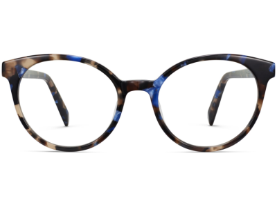 Front View Image of Delphine Eyeglasses Collection, by Warby Parker Brand, in Tanzanite Tortoise Color