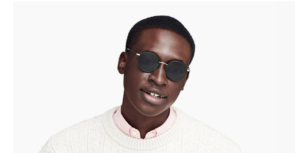 Men Model Image of Duncan Sunglasses Collection, by Warby Parker Brand, in Forest Green with Polished Gold Color