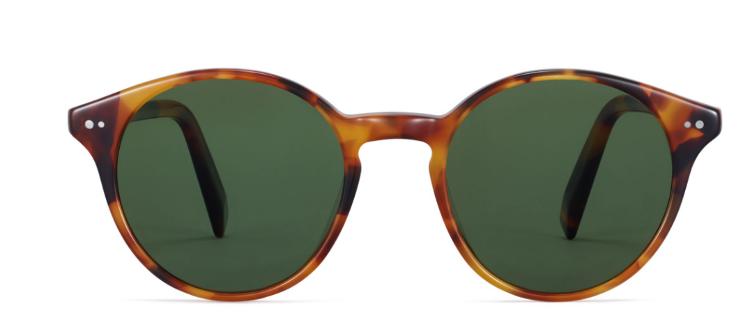 Front View Image of Morgan Sunglasses Collection, by Warby Parker Brand, in Mesa Tortoise Color