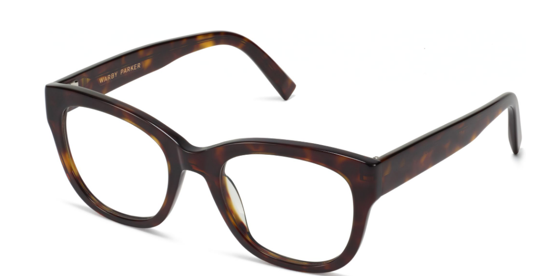 Angle View Image of Tatum Eyeglasses Collection, by Warby Parker Brand, in Cognac Tortoise Color