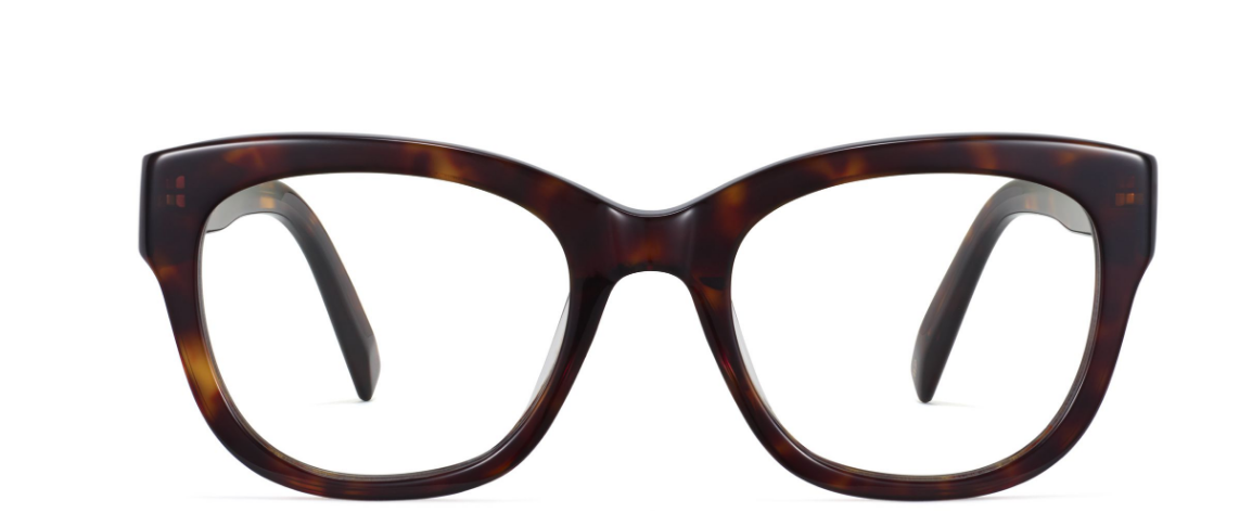 Front View Image of Tatum Eyeglasses Collection, by Warby Parker Brand, in Cognac Tortoise Color