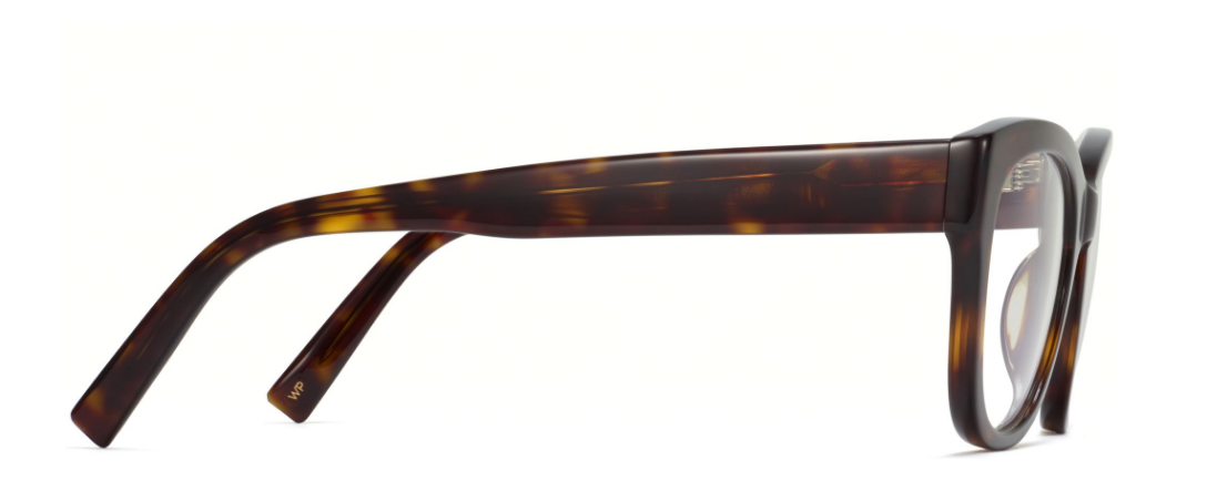Side View Image of Tatum Eyeglasses Collection, by Warby Parker Brand, in Cognac Tortoise Color