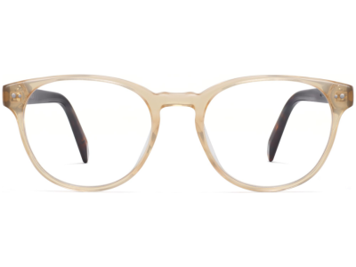 Front View Image of Whalen Eyeglasses Collection, by Warby Parker Brand, in Champagne with Cognac Tortoise Color