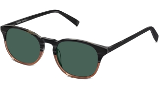 Angle View Image of Downing Sunglasses Collection, by Warby Parker Brand, in Antique Shale Fade Color