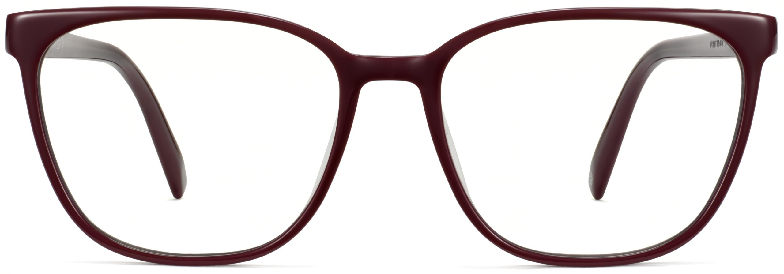 Front View Image of Esme Eyeglasses Collection, by Warby Parker Brand, in Oxblood Color