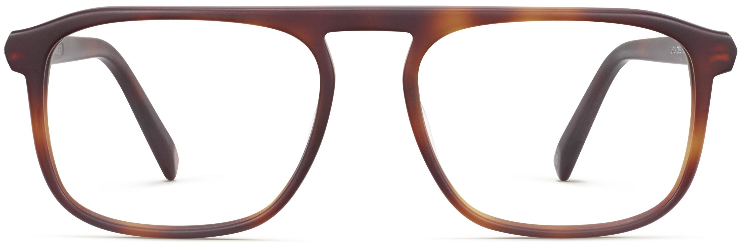 Front View Image of Lyon Eyeglasses Collection, by Warby Parker Brand, in Rye Tortoise Matte Color