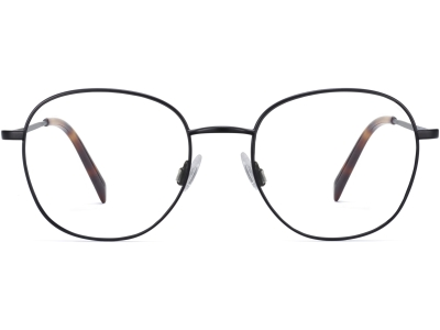 Front View Image of Cyrus Eyeglasses Collection, by Warby Parker Brand, in Brushed Ink Color