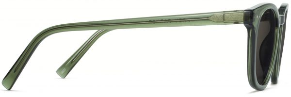 Side View Image of Toddy Sunglasses Collection, by Warby Parker Brand, in Seaweed Crystal Color
