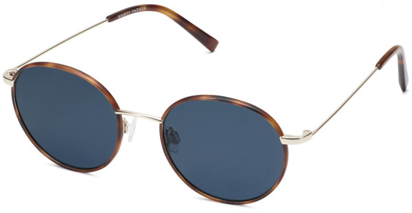 Angle View Image of Duncan Sunglasses Collection, by Warby Parker Brand, in Oak Barrel with Riesling Color