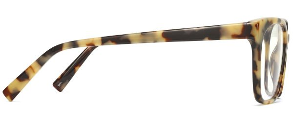 Side View Image of Hughes Eyeglasses Collection, by Warby Parker Brand, in Marzipan Tortoise Color