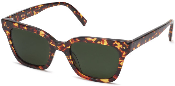Angle view Image of Beale Sunglasses Collection, by Warby Parker Brand, in Saffron Tortoise Fade Color