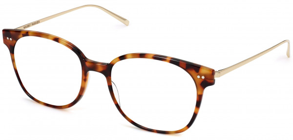 Angle View Image of Tilden Eyeglasses Collection, by Warby Parker Brand, in Acorn Tortoise with Polished Gold Color