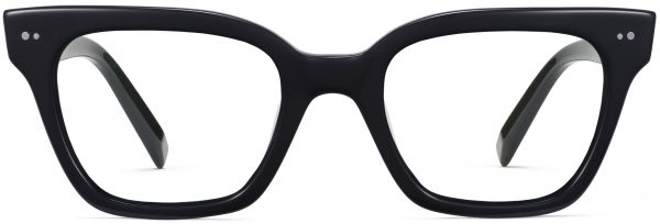 Front View Image of Beale Eyeglasses Collection, by Warby Parker Brand, in Jet Black Color