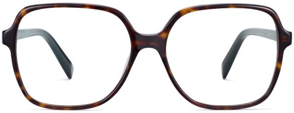 Front View Image of Alston Eyeglasses Collection, by Warby Parker Brand, in Cognac Tortoise Color