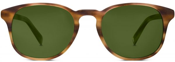 Front View Image of Downing Sunglasses Collection, by Warby Parker Brand, in English Oak Matte Color