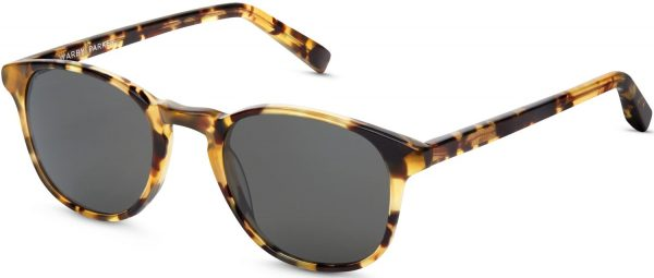 Angle View Image of Downing Sunglasses Collection, by Warby Parker Brand, in Walnut Tortoise Color