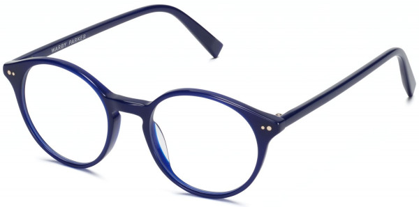 Angle View Image of Morgan Eyeglasses Collection, by Warby Parker Brand, in Baltic Blue Color
