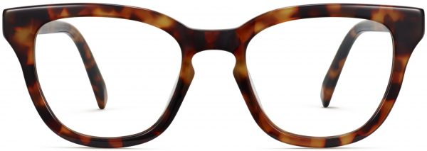 Front View Image of Della Eyeglasses Collection, by Warby Parker Brand, in Acorn Tortoise Color