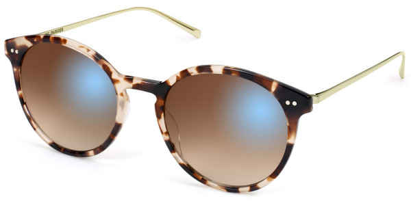 Angle View Image of Langley Sunglasses Collection, by Warby Parker Brand, in Opal Tortoise with Riesling Color