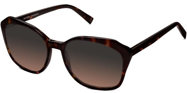 Angle View Image of Nancy Sunglasses Collection, by Warby Parker Brand, in Cognac Tortoise Color