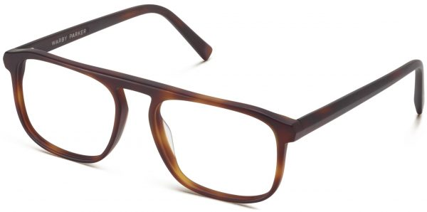 Angle View Image of Lyon Eyeglasses Collection, by Warby Parker Brand, in Rye Tortoise Matte Color